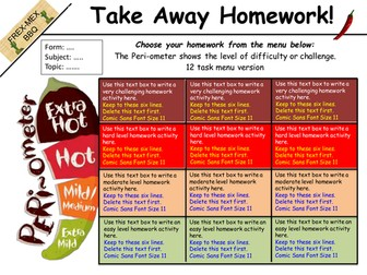 Take-away homework templates