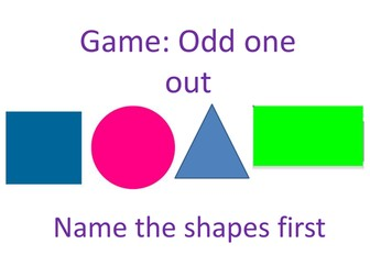 Shape Game - Review circle, triangle, square and rectangle