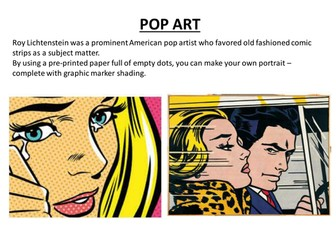 Pop Art activity