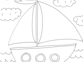 Dead, Alive, Never Lived: Ocean Theme: Boat Worksheet to Colour In