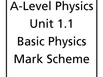 WJEC A level Physics unit 1 workbooks & mark schemes by