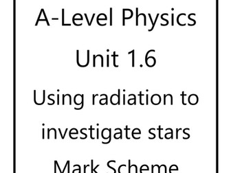 WJEC A level Physics unit 1 workbooks & mark schemes by