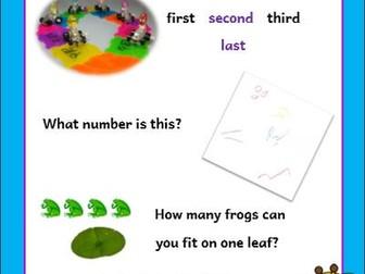 Nursery Mathematical Vocabulary Cards
