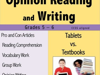 Opinion Reading and Writing - Tablets vs. Textbooks