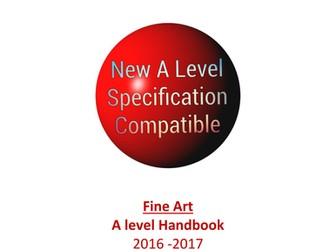 New Specification A level Art Student handbook