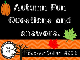 Autumn Fun:- Questions and Answers SPaG