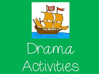 PIRATES Drama Pirate Name Cards and Pirate Drama Activities
