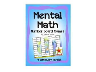 Mental Math Board Games - adding Ones Tens Hundreds