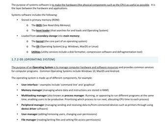 OCR GCSE 9-1 Computer Science  1.7 Systems software (operating systems, utilities)