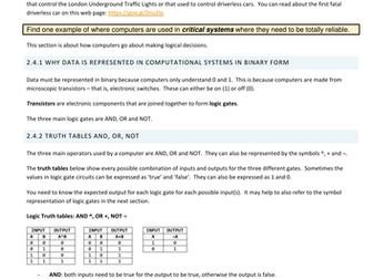 OCR GCSE 9-1 Computer Science 2.4 Computational Logic