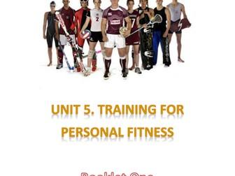 BTEC Sport Level 2 - Unit 5 Work Booklet