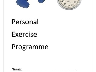 BTECP Sport Level 2: Assignment 1 - Personal Exercise Programme (coursework booklet)