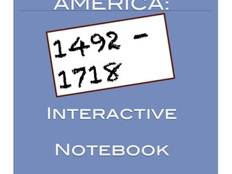 American Colonies: Interactive Notebook Timeline Activity
