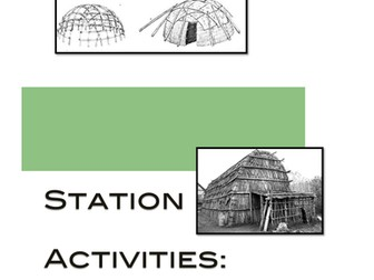Native Americans: Housing of the Iroquois Station Activity