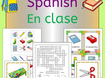 En Clase - Spanish Back to School Classroom Vocabulary Pack