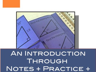 Trigonometric Functions: Notes, Practice and Card Sort for Trigonometry