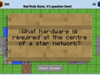 """""""Mindcraft"""" - Easily Customised PowerPoint Class Quiz With Minecraft Theme"""