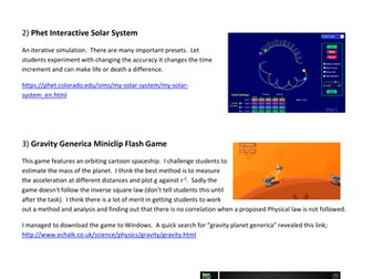 Gravity A-level Physics: Presentations, Activities and Games