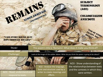 Remains - Simon Armitage - AQA Poetry - Power and Conflict