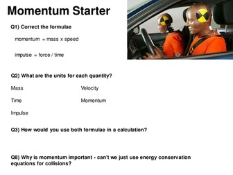 Momentum AfL Starter - Spot the Mistakes