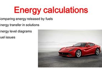 Energy Calculations GCSE Chemistry