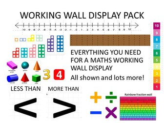 MATHS WORKING WALL DISPLAY PACK ks2