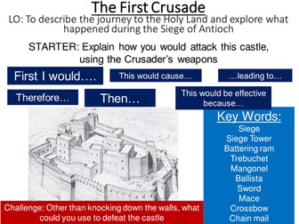 First Crusade- Journey to the Holy Land and the Siege of Antioch