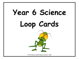 Year 6 Science Definition Loop Cards