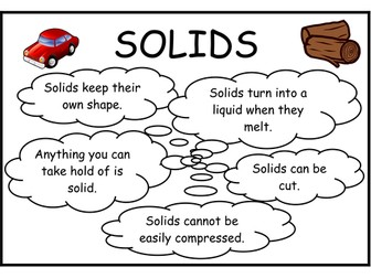 Solid, Liquid and Gases Display Posters