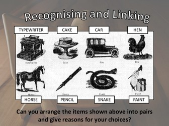 Whole School Starter - Thinking - Brain Gym - Starter Activity - Recognising and Linking Objects