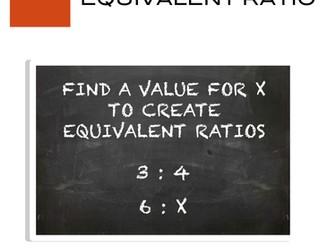 Ratios - Equivalent Ratios Task Card Activity