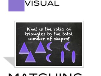 Ratio of Shapes Task Card Activity to introduce Ratio