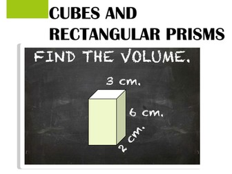 Volume of Cubes and Rectangular Prisms Task Card Activity