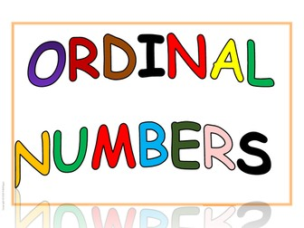 Room Visuals: Ordinal Numbers for display and Flashcards for resource centers