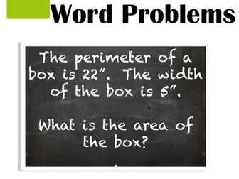 Area and Perimeter Word Problems Practice and Review Task Card Activities
