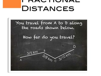 Fractional Distances on maps Task Card Activity