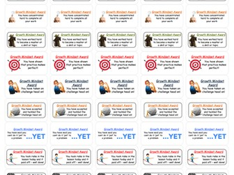Whole School Marking Stickers - Growth Mindset