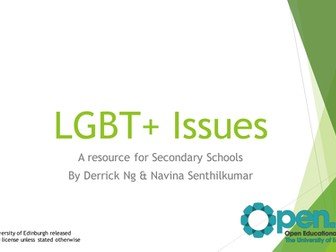 LGBT+ Issues - A resource for Secondary Schools