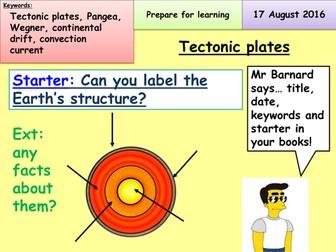 Plate tectonics.