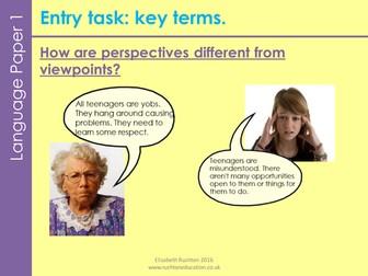 AQA new specification GCSE English Language Paper 2 Question 4