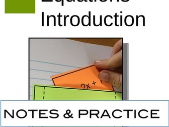 Linear Equations Interactive Notebook Foldable Introduction to Linear Equations