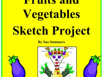 Spanish Foods Fruits and Vegetables Sketch Project