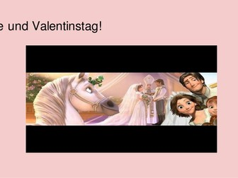 Valentine's Day Valentinstag German levels 3-5 Activity