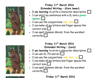 Stickman by Julia Donaldson Year 2 literacy plan and all resources