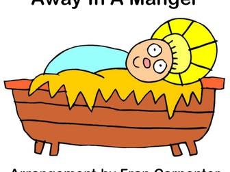 Away In A Manger - MP3 tracks & piano score arranged for Nursery, Reception & KS1