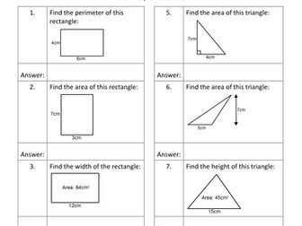 Geometry QR Code Homework Sheets - Bundle 1