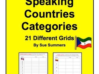 Spanish Speaking Countries Categories Bundle of 21