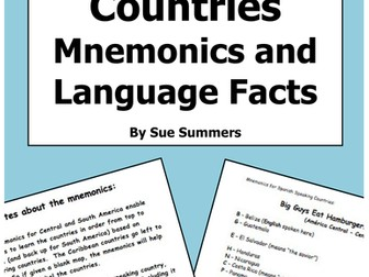 Spanish Countries Mnemonics and Language Facts