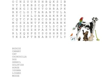 Pets Wordsearch
