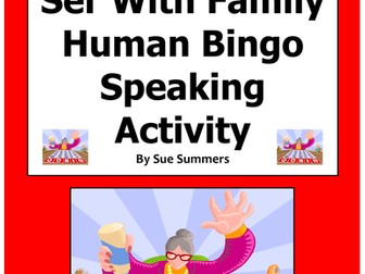 Spanish Ser With Family Human Bingo Game Speaking Activity and Written Follow-Up